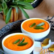 Zupa krem dyniowa z masłem szałwiowym