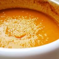 Kremowa zupa z dyni i marchwi na bazie śmietanki kokosowej