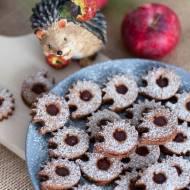 Ciasteczka z mąką kasztanową i powidłami śliwkowymi