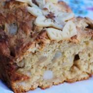 Szybkie ciasto z gruszkami i marcepanem