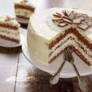 Ciasto Bounty z polewą z białej czekolady