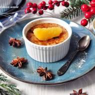 Piernikowy creme brulee z sosem pomarańczowym