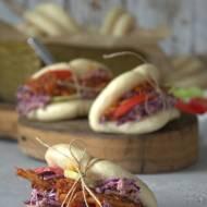 Bułeczki bao z szarpaną wieprzowiną