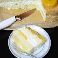 Ciasto z brzoskwiniami i kremem śmietanowym z mascarpone