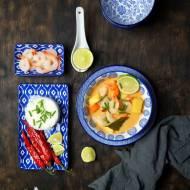 Curry z krewetkami i ananasem