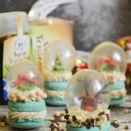 Świąteczne makaroniki a'la śnieżne kule