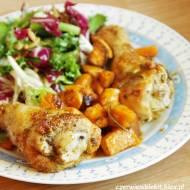 Kurczak pieczony z batatami w ziołach