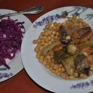 obiad bezmięsny w  jesiennym kolorze z wolnowaru
