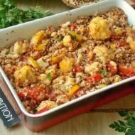 Pieczona kasza gryczana z warzywami