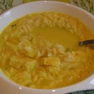Tajska zupa z mlekiem kokosowym