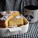 Ciasto cytrynowe + przepis na olejek cytrynowy.