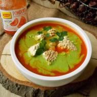 Zupa pomidorowa z pieczoną papryką i twarogiem wędzonym
