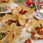 Koszyczki filo pomidorowo serowe