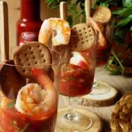 Kolumbijskie ceviche z krewetek z bezglutenowymi krakersami