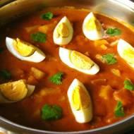 Bombajskie curry z ziemniakami i jajkami.