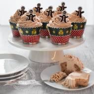 Piernikowe muffinki z kremem cynamonowym