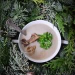 Zupa krem z suszonych grzybów i kasztanów