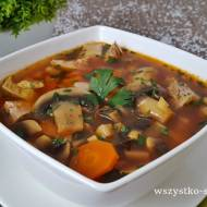 Pikantna zupa pieczarkowa