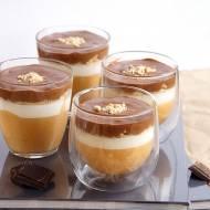 Podwójnie musowy deser z solonym karmelem i czekoladą