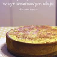 Złoty sernik z dynią pieczoną w cynamonowym oleju