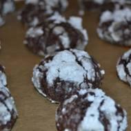 Śnieżne pękające ciasteczka