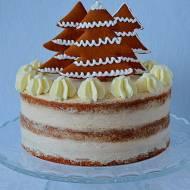 Tort piernikowy z choinkami