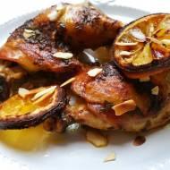 Udka kurczaka pieczone z cytryną i tymiankiem