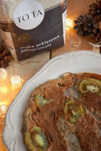 Orkiszowy omlet z bananem