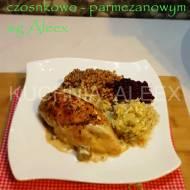 Pierś kurczaka w sosie czosnkowo-parmezanowym wg Aleex