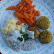 Wegańskie bezglutenowe klopsiki z brokuła i kaszy jaglanej