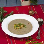 Kremowa zupa grzybowa z kasztanami
