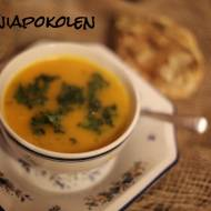 Zupa krem z dyni i chipsami z  jarmużu