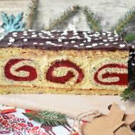 Ciasto pawi ogon w wersji świątecznej