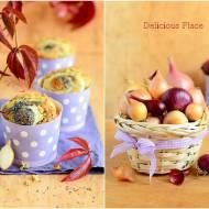 Muffiny cebulowo-makowe / Onion and poppy muffins