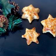 Wigilijne gwiazdki z pieczarkami