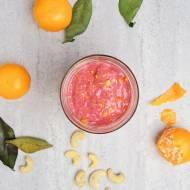 Malinowo-pomarańczowo-bananowe smoothie