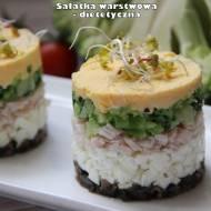 Sałatka warstwowa - dietetyczna