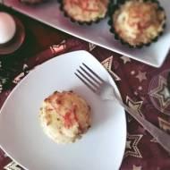 Tartaletki z łososiem i ravioli ze szpinakiem i serem mascarpone