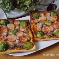 Pizzerinki francuskie z kindziukiem i brukselką