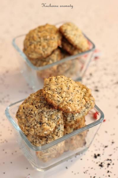Ciasteczka owsiane makowo - sezamowe