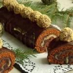 Piernikowa rolada z marcepanem i śliwkową czekoladą