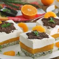 Pomarańczowo makowe ciasto pod gwiazdami