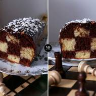 Ciasto szachownica – ciasto waniliowo-kakaowe – bez miksera