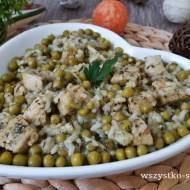 Risotto ziołowe z groszkiem