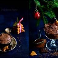 Wegański mus czekoladowo-piernikowy / Vegan chocolate-ginger mousse