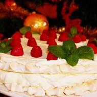 ŚWIĄTECZNY TORT BEZOWY