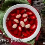 Wigilijny barszcz czerwony z fasolą