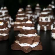 Ciasteczka kakaowe lukrowane - choinki