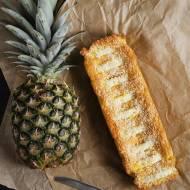 Ciasto z mąki kokosowej z ananasem | FIT ciasto