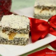 Makowe ciasto z karmelizowanymi gruszkami